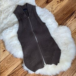 Alexander Wang Zip Knit Vest size small